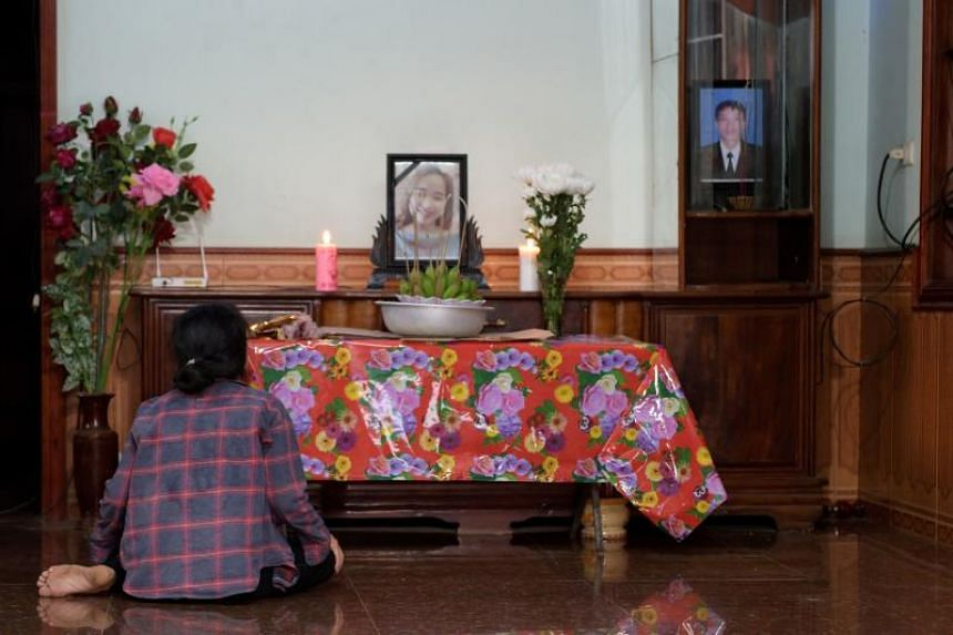 A portrait of Ms Bui Thi Nhung, a Vietnamese suspected to be among the 39 found dead in the back of a truck near London, at her home in Nghe An province, Vietnam.