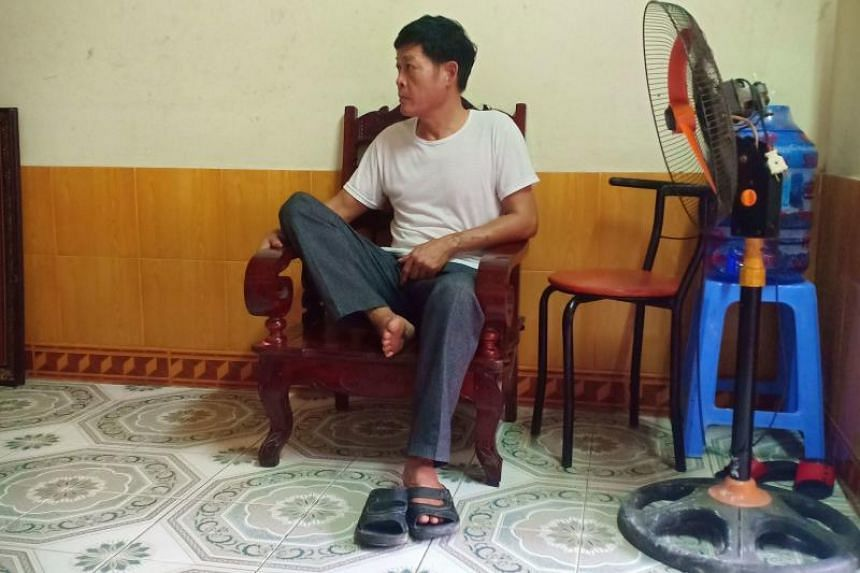 Pham Thi Tra My's father at his home in Vietnam's Ha Tinh province on Oct 26, 2019.