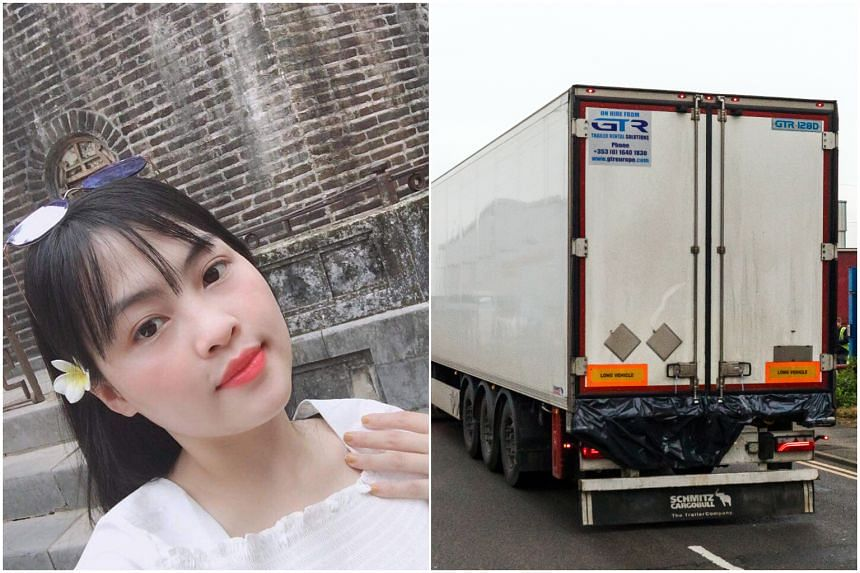 Pham Thi Tra My had sent a text message to her mother saying she could not breathe at about the time the truck container was en route from Belgium to Britain.