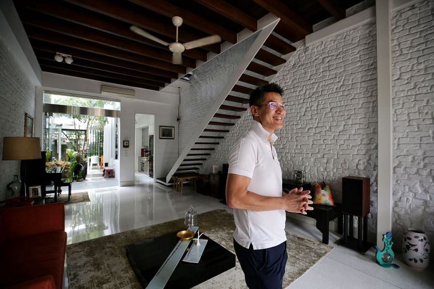 Principal architect Keith Khoo at the award-winning shophouse at 105 Onan Road, which used to be rented out to workers and chicken-rice stallholders.