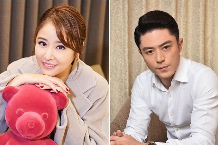Taiwanese actress Ruby Lin (left) and actor Wallace Huo (right).