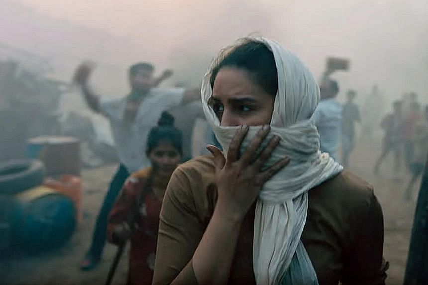 The series Leila - starring Huma Qureshi (above) - was inspired by Prayaag Akbar's dystopian science-fiction novel of the same name. Above: Sacred Games, starring Kubbra Sait and Nawazuddin Siddiqui, is Netflix's first original Web series in India an
