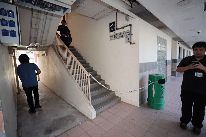 Police say they were alerted to the case of unnatural death at Block 633 Ang Mo Kio Avenue 6 at 5.46am.