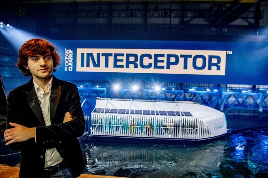 """""""To solve the plastic pollution problem we need to do two things: we need to clean up what's already in the oceans, for that we of course have the Ocean Cleanup System,"""" said founder Boyan Slat."""