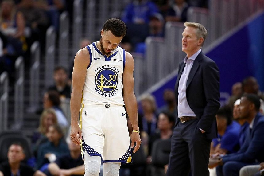 Golden State Warriors star Stephen Curry and head coach Steve Kerr began their new NBA season with a 141-122 loss to LA Clippers on Thursday. It was the Warriors' first game at their new home, the Chase Centre in San Francisco.