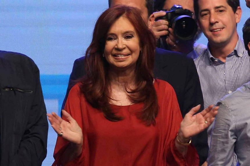 Argentina's former president Cristina Fernandez de Kirchner returns to the Casa Rosada palace after she and senior running mate Alberto Fernandez scored a decisive victory in Sunday's election.