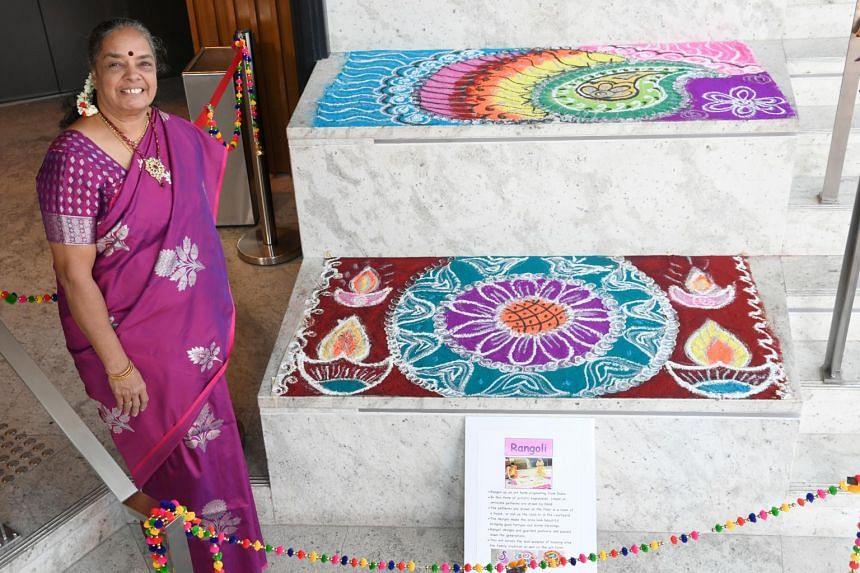 Rangoli artist Vijaya Mohan, 60, plans to apply for the award.