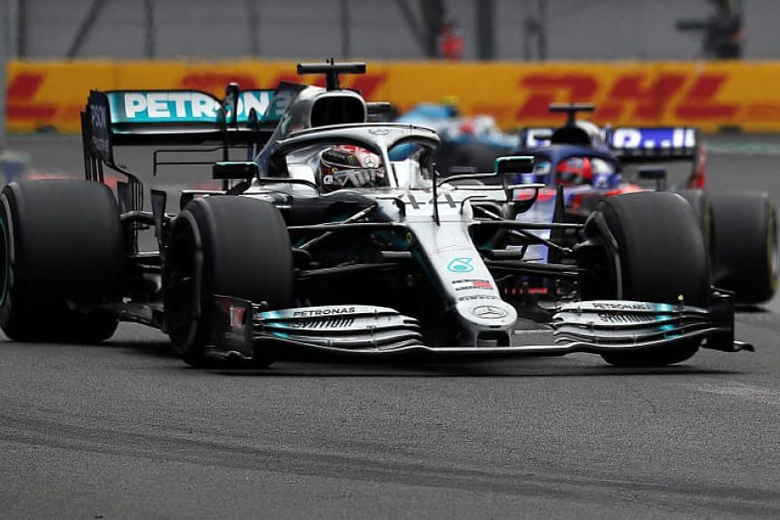 Mercedes' Lewis Hamilton in action during the Formula One F1 race at the Mexican Grand Prix in Mexico City on Oct 27, 2019.