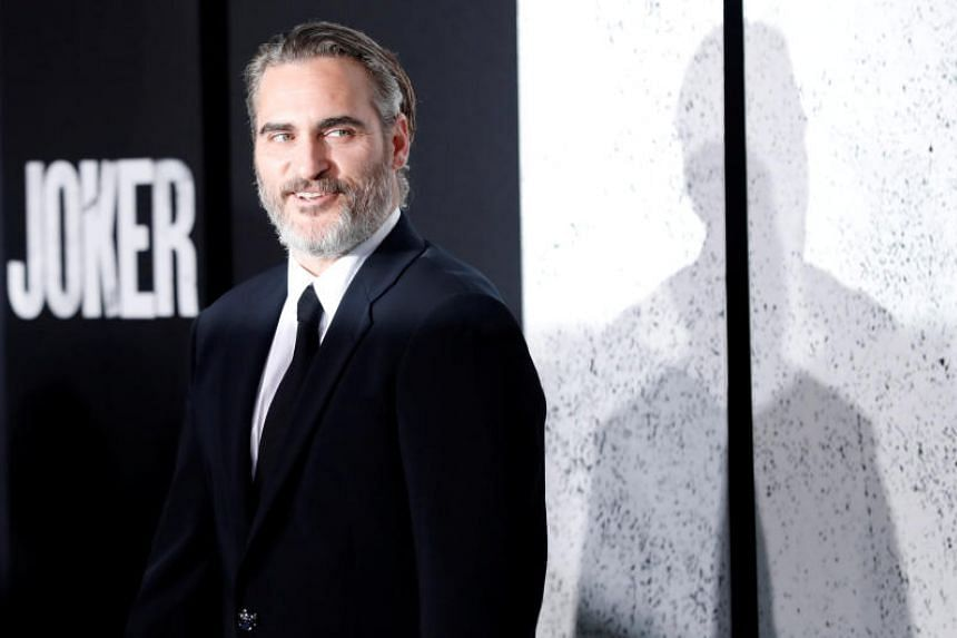 A photo taken on Sept 28 shows Joaquin Phoenix at the premiere of Joker in Los Angeles.