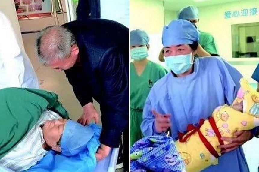 The woman delivered a healthy girl by caesarean section on Oct 25 in Zaozhuang city's Maternity and Child Health Care Hospital.