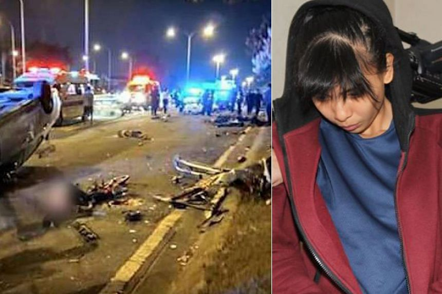 Ms Sam Ke Ting's car ploughed into a group of teenage cyclists on Feb 18, 2017, killing eight of them.