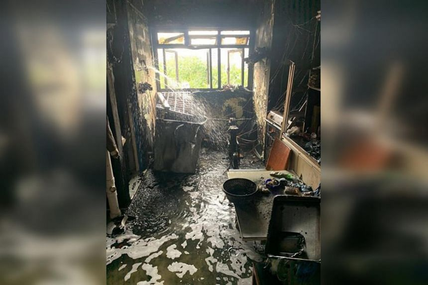 A fire broke out in a seventh-storey flat at Block 106 Bedok North Avenue 4 on Oct 28, 2019.