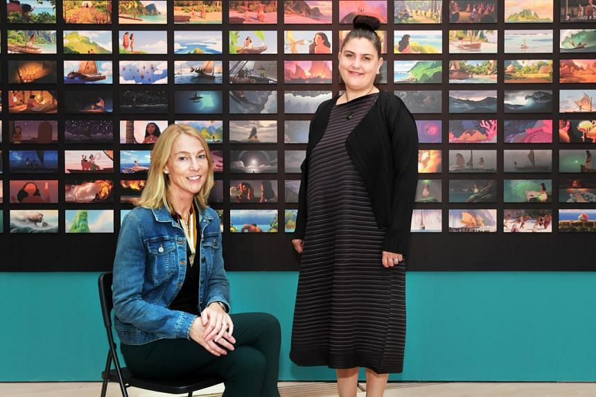 Walt Disney Animation Studios' managing director of ARL (Animation Research Library), Ms Mary Walsh (left), and ArtScience Museum's executive director Honor Hargar.