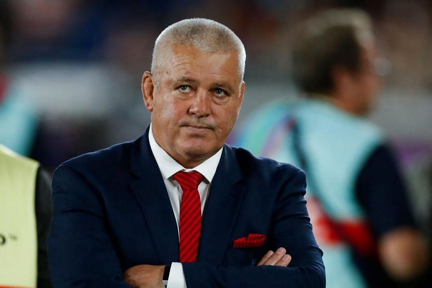 Wales' head coach Warren Gatland reacts after losing the Japan 2019 Rugby World Cup semi-final match between Wales and South Africa at the International Stadium Yokohama in Yokohama, on Oct 27, 2019.