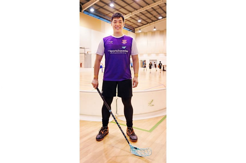 Mr Josiah Quak has been hooked on floorball since his university days and likes the character development and teamwork that the sport demands from team members.