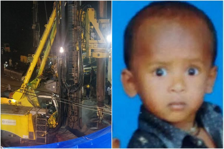 The toddler, Sujith Wilson, fell into the 30cm diameter pipe on Oct 25, 2019.