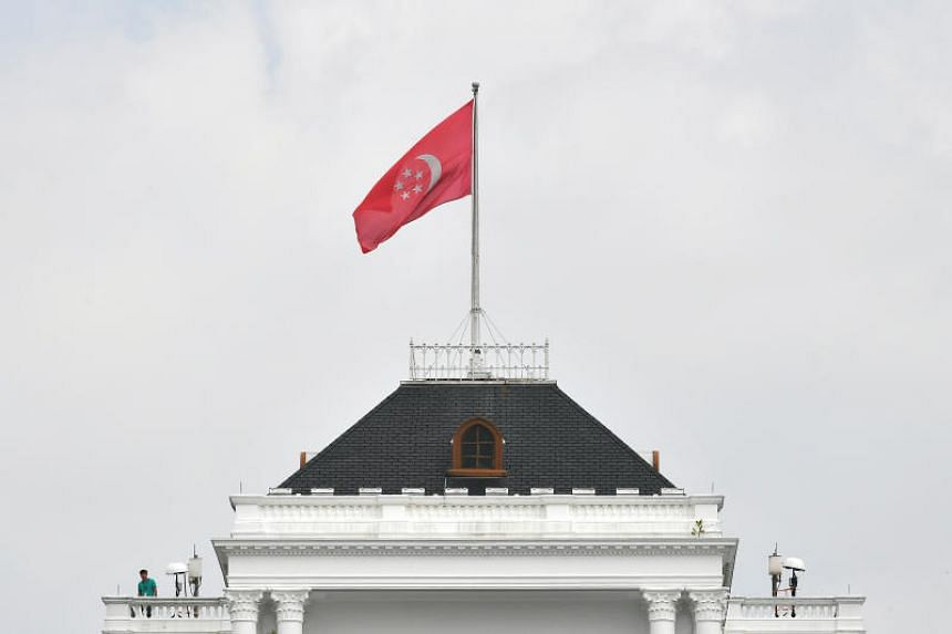 Flag on top of the Istana main building.
