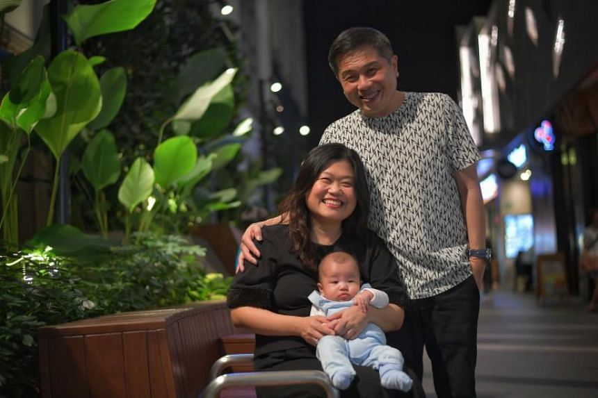 Madam Jaslyn Aw, 42, and her husband, Martin Peh, 46, finally became parents in July after 16 years of marriage. Madam Aw was 39 years old when they decided to turn to science to help them conceive.