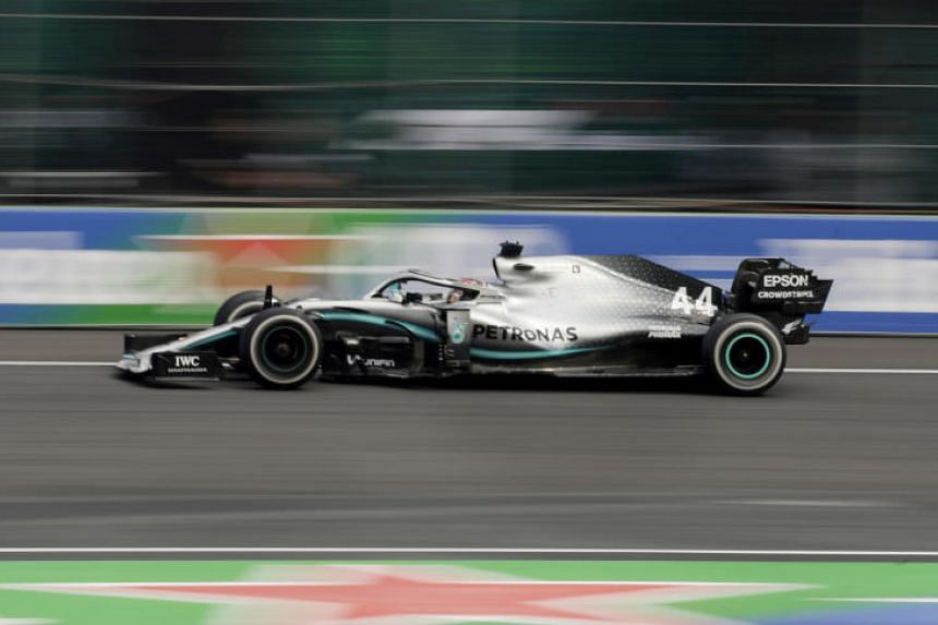 Mercedes' Lewis Hamilton in action during the Mexican Grand Prix on Oct 27, 2019.