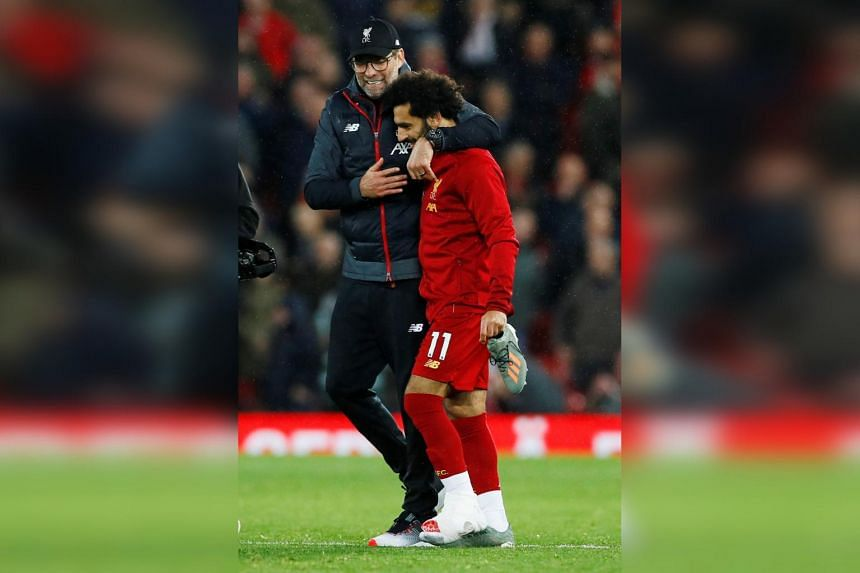 Mohamed Salah was substituted five minutes before the end of the match.