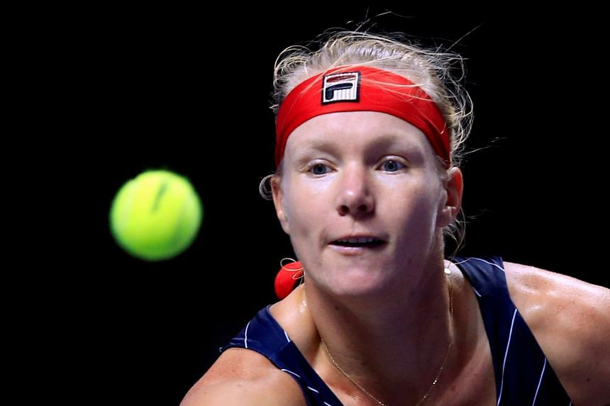 Bertens in action during her match against Australia's Ashleigh Barty.