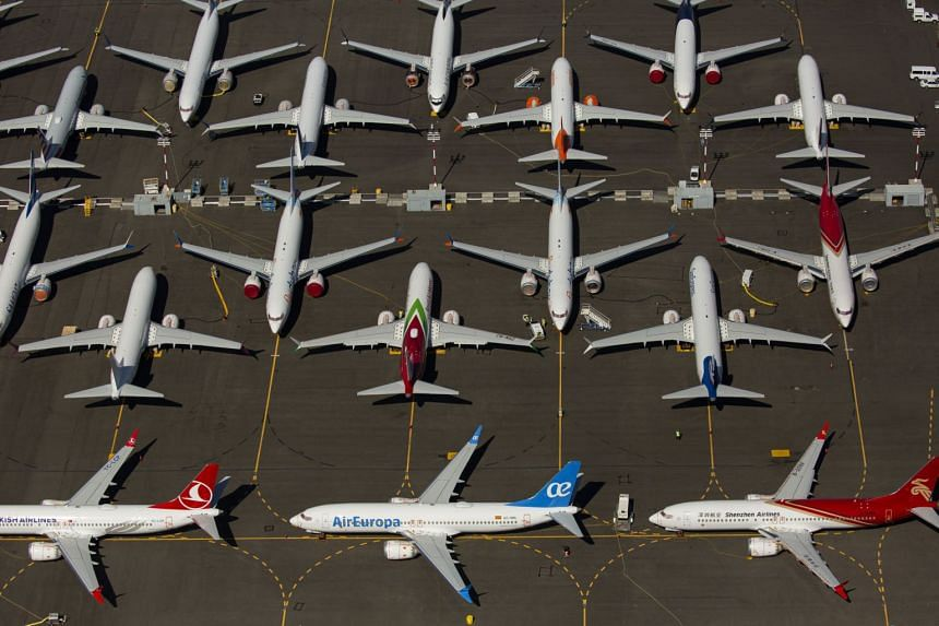 Boeing 737 Max aircraft parked near in Seattle, Washington, on Aug 13, 2019.