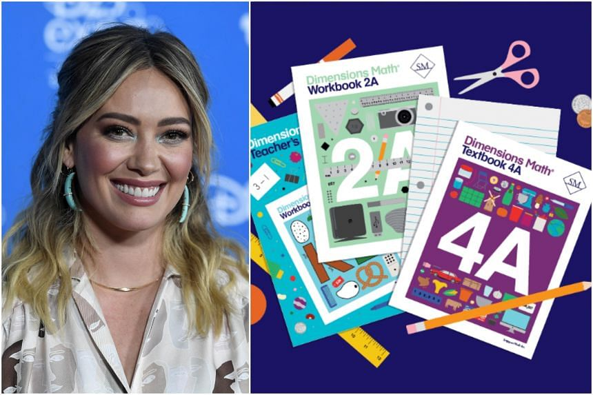 Hilary Duff has stocked up on books by a company called Singapore Math, whose founders tapped the approach taken by Singapore's Ministry of Education.