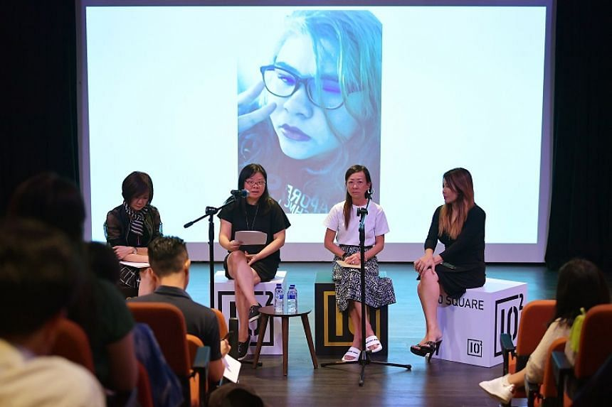 (From left) Ms Jenny Teo, Madam Tan Lay Ping, Ms Elaine Lek and Ms Doreen Kho during the launch of advocacy group, PleaseStay., which raises awareness on youth suicides.