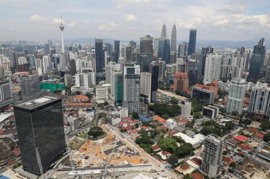 A view of the city skyline in Kuala Lumpur on Oct 23, 2019. A total of 120 areas in Gombak and 57 other areas around Kuala Lumpur will experience temporary water supply disruption for 23 hours from Oct 31.