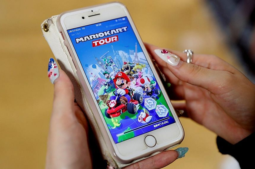 Racing app Mario Kart Tour is regarded as the Nintendo title most suitable for smartphones in terms of money-making opportunities and features to hook players. PHOTO: REUTERS