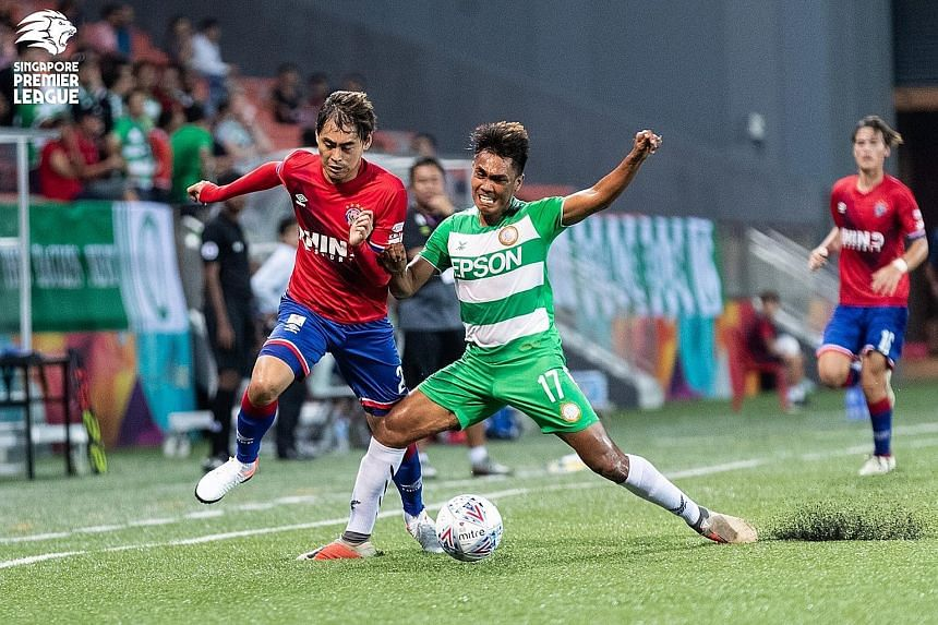 Warriors forward Gabriel Quak (left) is hopeful his team can stage a comeback against Brunei DPMM in their Cup semi-final.
