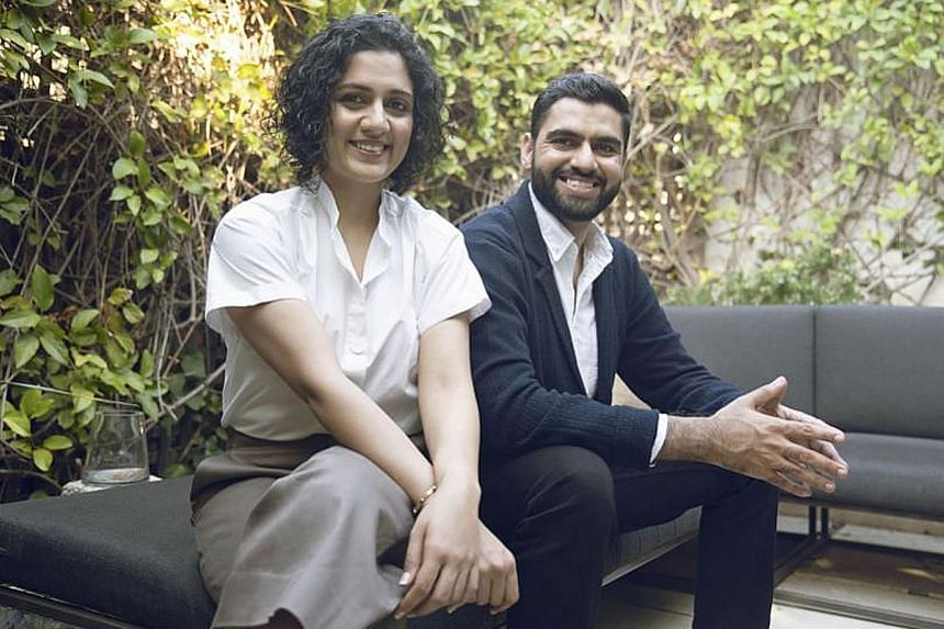 "Yours chief executive Navneet Kaur, seen here with chief marketing officer Shivam Sharma, says the imminent transformation of the beauty industry will ""set aside the dated one-size-fits-all business model that produces en masse"", in favour of options"