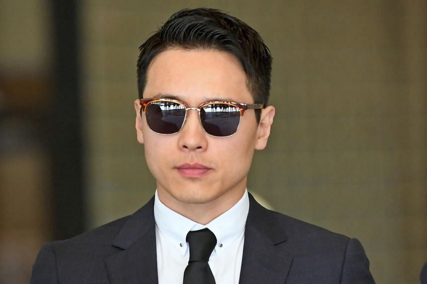 Chinese actor Gao Yunxiang at the Downing Centre District Court in New South Wales, Australia, on Oct 21 2019. Gao is accused of sexually assaulting a woman multiple times at the luxury Shangri-La hotel in Sydney.