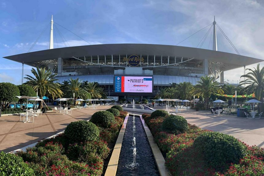 Formula One is hoping to stage a race on a temporary track surrounding the Hard Rock Stadium (pictured), home of the Miami Dolphins NFL team, in Miami Gardens, on the northern outskirts of the city.