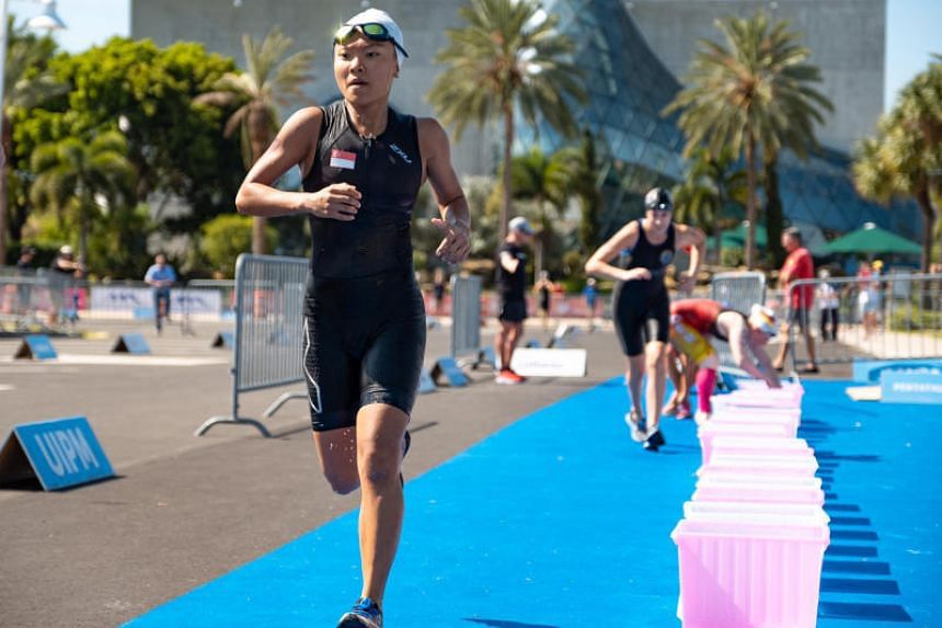 Modern pentathlete Shermaine Tung competes in the UIPM 2019 Biathle/Triathle World Championships in Florida. Tung finished third in the triathle women's senior class.