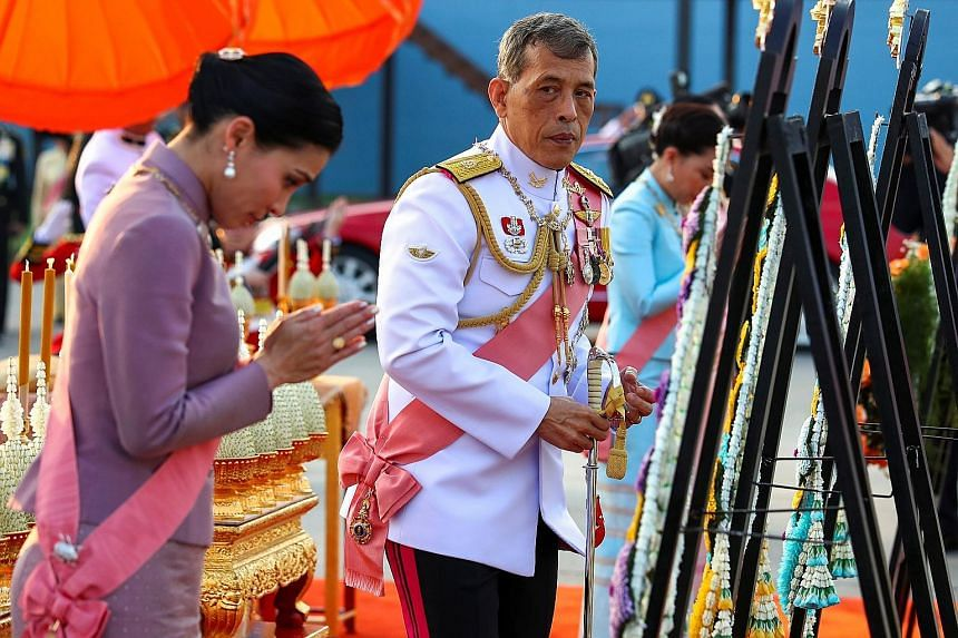 Thailand's King Maha Vajiralongkorn and Queen Suthida at an event in Bangkok last week commemorating the death of King Chulalongkorn, also known as King Rama V.