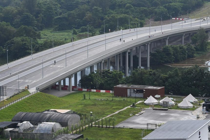 A photo taken on Nov 25, 2018, of a link road connecting Punggol Central to Kallang-Paya Lebar Expressway and Tampines Expressway.