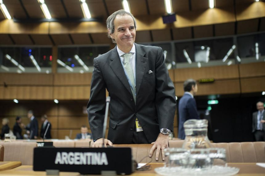 Argentina's Rafael Grossi, the new head of the International Atomic Energy Agency, at a Board of Governors meeting in Vienna, Austria, on Oct 30 2019.