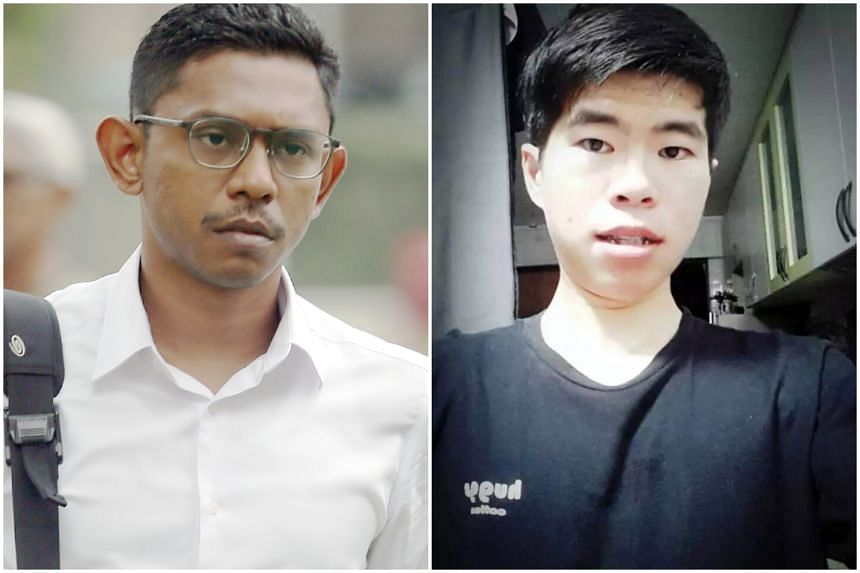 First Warrant Officer Mohamed Farid Mohd Saleh (left) was found guilty of instigating the rash act that caused the death of Corporal Kok Yuen Chin (right).
