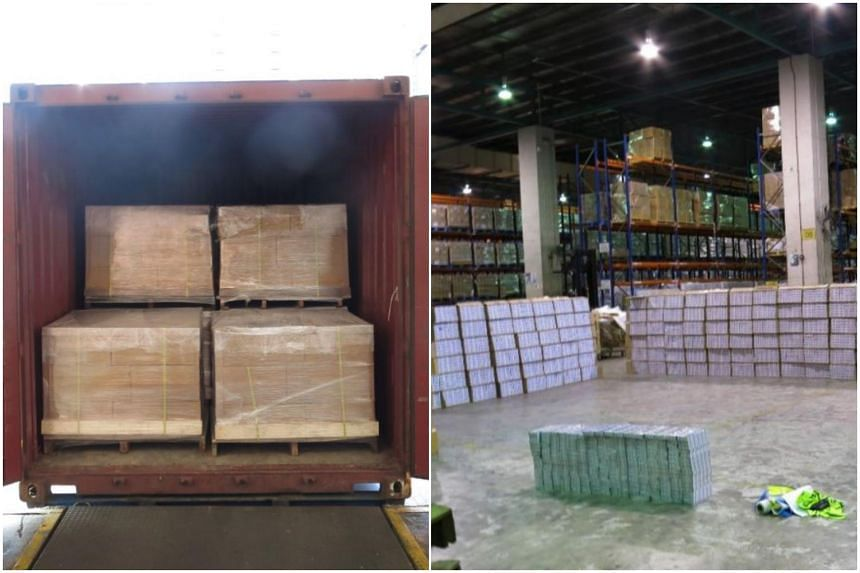 Singapore Customs officers found 10,800 cartons of duty-unpaid cigarettes in a 20-foot container at an industrial building in Sunview Road near Boon Lay.