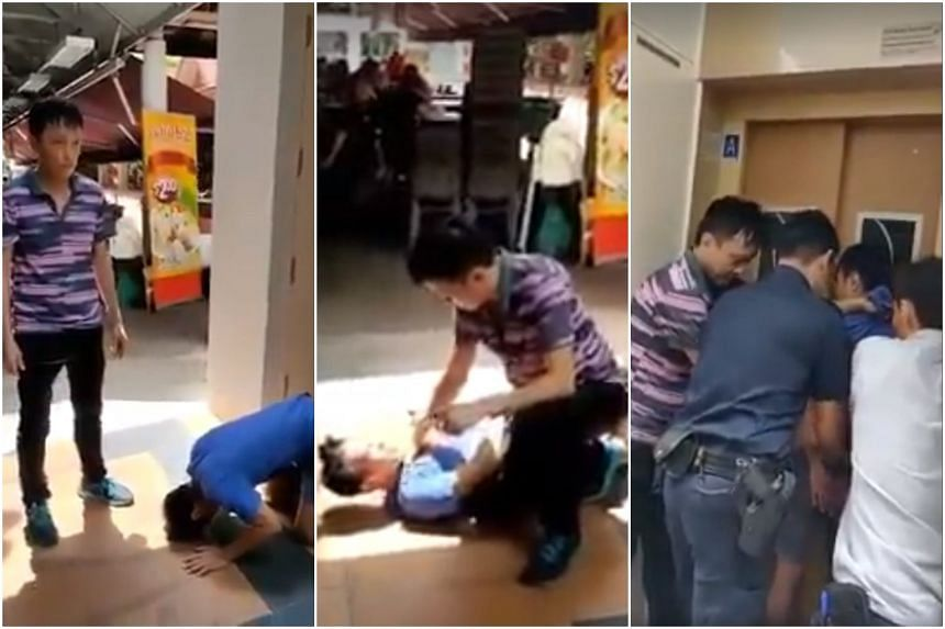 In a seven-minute video posted on the All Singapore Stuff Facebook page, the suspect is seen at a ground floor lift lobby, kneeling on one leg and begging an older man, who appears to be the person who caught him.