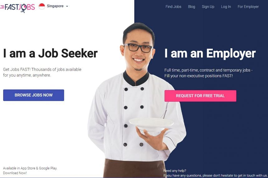 According to FastJobs, the plan is to launch a learning marketplace in the first half of next year to help non-executive workers pick up skills for Singapore's digital economy.