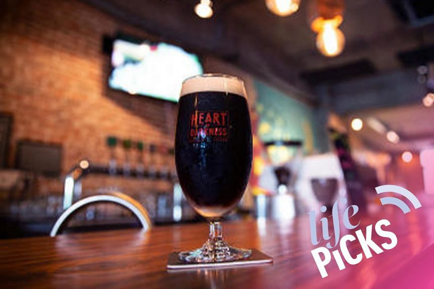 One of the dark beers on offer at Heart of Darkness gastropub in Tanjong Pagar for Nightmare in Tanjong Pagar is the Excited Magpie stout.