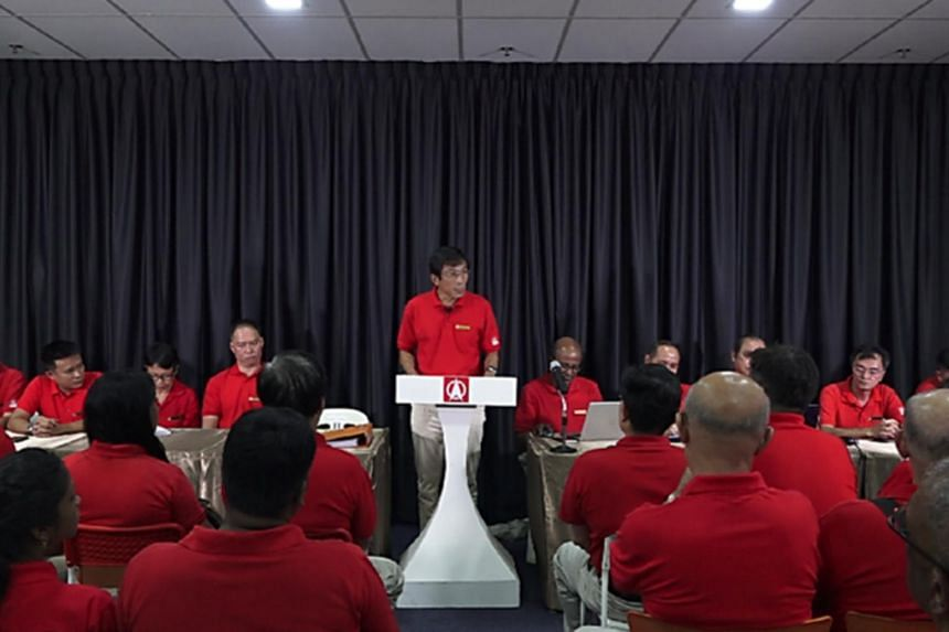 At the SDP's 19th Ordinary Party Conference on Thursday (Oct 31) evening, Dr Chee Soon Juan (centre) was re-elected as secretary-general and Dr Paul Tambyah returned as chairman.