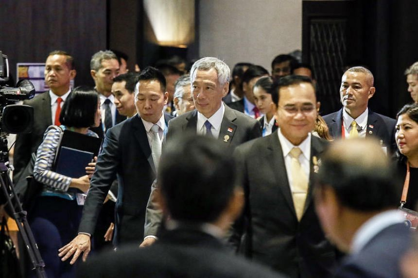 Prime Minister Lee Hsien Loong addressed fellow leaders of South-east Asian nations at the start of the 35th Asean Summit on Nov 2, 2019.
