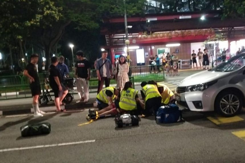 The aftermath of the accident which took place at Lorong 5 Toa Payoh, at 10.42pm.