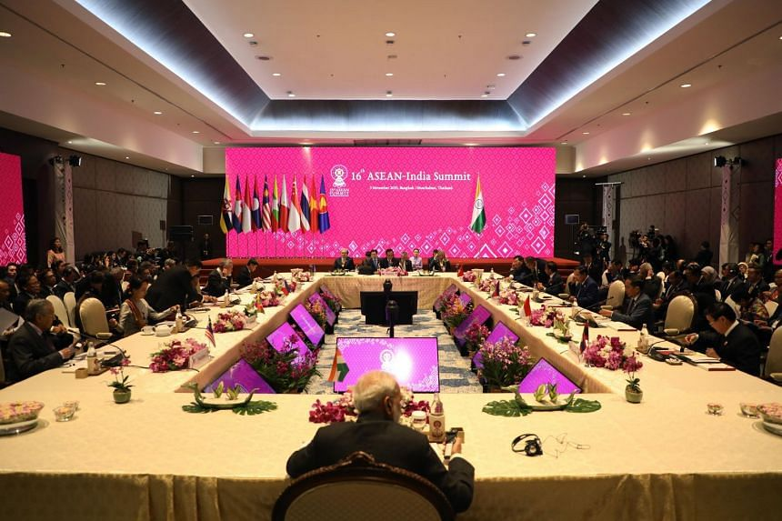 The 16th ASEAN-India Summit was held in Bangkok on Nov 3, 2019.