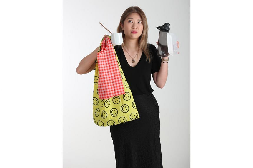 The Sunday Times writer Alyssa Woo takes along two nylon bags of different sizes wherever she goes.