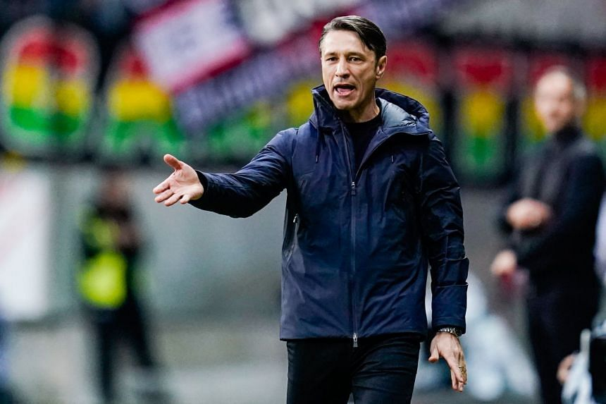 Niko Kovac gestures on the touchline during the match.