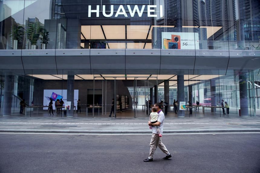 A view of Huawei's first global flagship store in Shenzhen, China, on Oct 30, 2019.